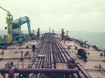 Crude Oil Terminal, view from superstructure royalty free stock photography