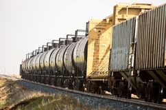 Crude Oil Train Cars Royalty Free Stock Photo