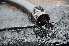 Crude oil. From oil well Stock Image