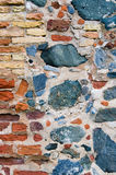 Crude Stone Wall Background Stock Image