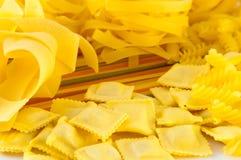 Crude yellow macaroni Stock Image