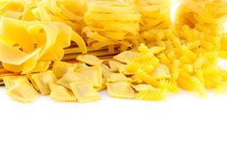 Crude yellow macaroni Royalty Free Stock Photos