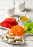 Crudites Salad with classic vinaigrette. Selective focus Stock Photo