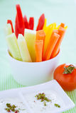 Crudites - vegetable sticks Royalty Free Stock Photos