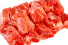 Crudo della costola di carne di maiale su bianco Fotografie Stock Libere da Diritti