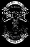 Cruel engine2. Image illustration a BIKER COMMUNITY for idea PATCH and Tee Shirt, clothing, apparel bikers design Royalty Free Stock Image