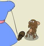 So cruel girl Izabelle. Girl punishes bear house slippers Stock Photo