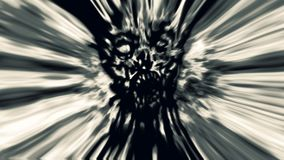 Cruel gray zombie face cover. Image with blur effect. Illustration in genre of horror Royalty Free Stock Photography