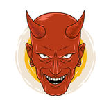 The Cruel Smiling Devil. A demon who smiled viciously and staring ahead Stock Photography