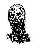 Cruel zombie head. Vector illustration. Stock Images
