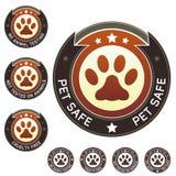 Crueldad libre y escrituras de la etiqueta seguras del producto del animal doméstico Imagen de archivo