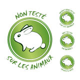 Cruelty free vector symbols Royalty Free Stock Image