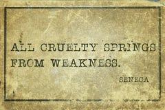 Cruelty Seneca Royalty Free Stock Photos