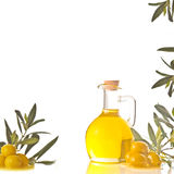 Cruet with extra olive oil Royalty Free Stock Photography