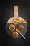 Cruffins al forno freschi Fotografie Stock