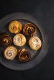 Cruffins al forno freschi Fotografia Stock Libera da Diritti