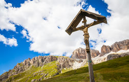 Crufix tradizionale nella regione di Dolomiti - Italia Immagini Stock Libere da Diritti