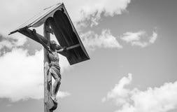 Crufix tradizionale nella regione di Dolomiti - Italia Fotografia Stock Libera da Diritti