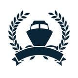 cruice boat travel isolated icon royalty free illustration