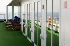 Cruise. Luxury cruise ship onboard view Royalty Free Stock Images