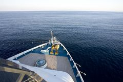Cruise 3. View from the deck of a cruise ship Royalty Free Stock Photography
