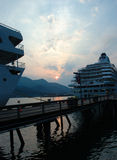 Cruise. Ships at the docks in Juneau Alaska stock photo