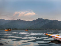 Cruise activities. In the lake, mountain and nature Royalty Free Stock Image