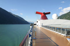 Cruise in Alaska. The View from a cruise ship off the coast of Alaska Royalty Free Stock Photos