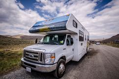 Free Cruise America RV Recreational Vehicle Is Parked In Bodie Ghost Town. These Cars Are Rental Stock Images - 138215494