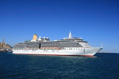 Cruise Arcadia. ALICANTE, SPAIN - SEPTEMBER 10: The cruise Arcadia start his travel from Alicante to Greece.  This magnificent ship has every imaginable onboard Stock Images