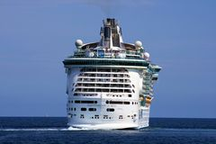 Cruise Arcadia. ALICANTE, SPAIN - OCTOBER 20: The cruise Independence of the Seas start his travel from Alicante to Greece.  This magnificent ship has every Royalty Free Stock Photography