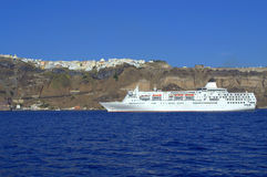 Voyage to Santorini,Greece stock image
