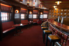 Cruise bar interior royalty free stock images
