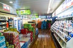 Cruise boat duty free shop Stock Image