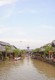Cruise boat in the floating market Stock Photography