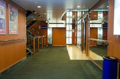 Cruise boat hallway Stock Photo
