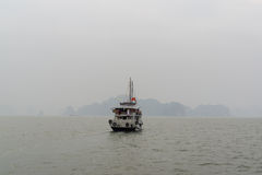 Cruise Boat in Halong bay Stock Image