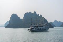 Cruise boat on Halong bay. Vietnam Royalty Free Stock Photos