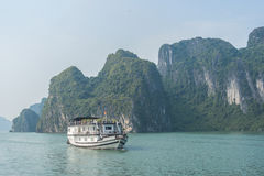 Cruise boat on Halong bay. Vietnam Stock Photos