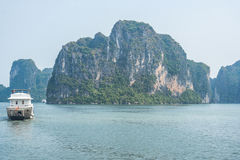 Cruise boat on Halong bay. Vietnam Royalty Free Stock Image