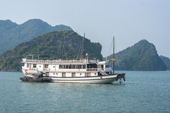 Cruise boat on Halong bay. Vietnam Royalty Free Stock Images