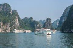 Cruise boat on Halong bay. Vietnam Royalty Free Stock Photography
