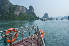 Cruise boat on Halong bay. Vietnam Stock Images