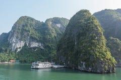 Cruise boat on Halong bay. Vietnam Stock Photography