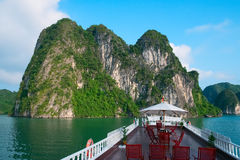 Cruise boat in Halong Bay Stock Images