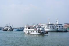 Cruise boat on Halong port. Vietnam Stock Photos