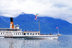 Cruise boat La Suisse on Lake Geneva Stock Image