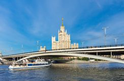 Cruise boat on Moscow river Royalty Free Stock Image