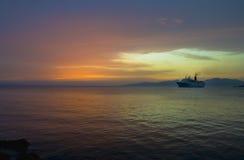 Cruise boat at night Stock Photos