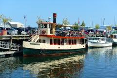 Cruise Boat at Portland, Maine, USA Stock Photo